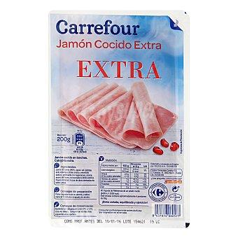 Carrefour Jamón cocido en lonchas 200 g