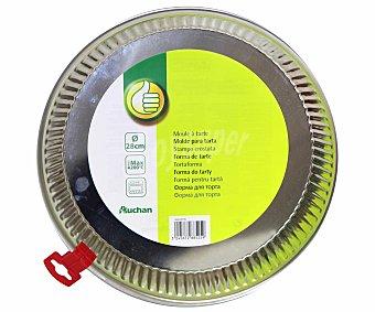 Productos Económicos Alcampo Molde redondo metálico para tartas, 28 centímetros de diámetro 1 Unidad