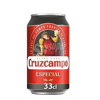 Cruzcampo Cerveza cruzial Lata de 33 cl