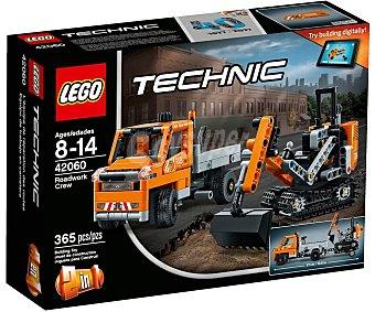 Technic Juego de construcciones con 365 piezas Equipo de trabajo en carretera, 42060 lego