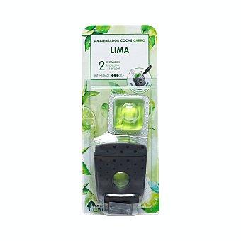 Bosque Verde Ambientador coche aroma lima aparato + 2 recambios 1 unidad + 2 recambios