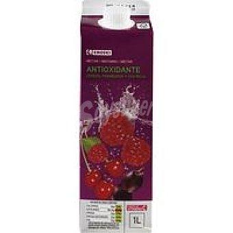 Eroski Néctar antiox uva roja-frambuesa-cereza Brik 1 litro