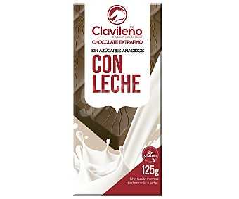 Clavileño Chocolate con leche extrafino sin azúcares añadidos 125 gr