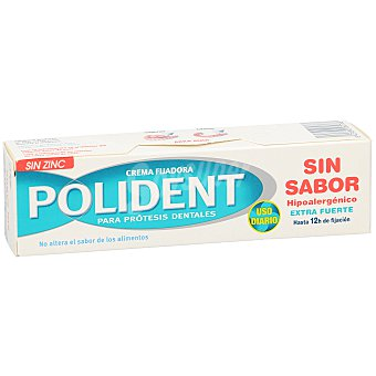 Polident Crema adhesiva dentadura postiza sin zinc sin sabor 40 g