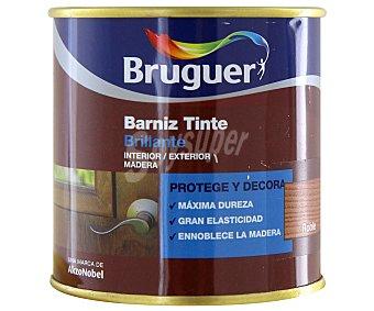 BRUGUER Barniz para muebles con tinte de color roble y acabado brillante 0,25 litros