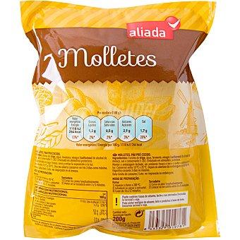Aliada Molletes de pan precocidos envase 200 g 2 unidades de 100g