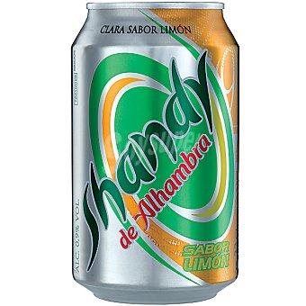 Alhambra Shandy cerveza sabor limón  lata 33 cl