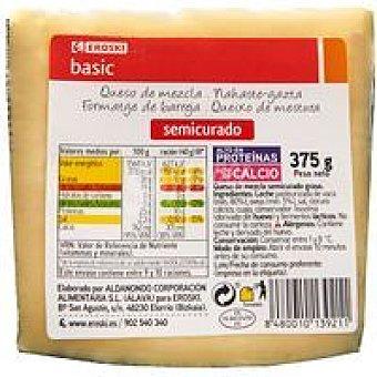 Eroski Basic Queso semicurado 375 g