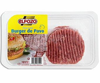 ElPozo Burger meat de pavo Bandeja de 320 gramos 4 unidades