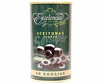 Excelencia Aceitunas negras sin hueso en rodajas Lata de 175 g