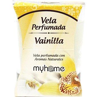 S&S Myhome vela perfumada Vainilla con aromas naturales vaso 1 unidad Vaso 1 unidad