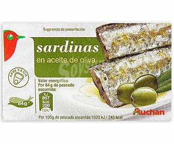 Auchan Sardina en aceite de oliva 84 gramos