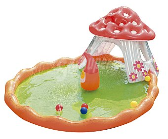 BESTWAY Piscina hinchable infantil modelo selva, con medidas de 204x150x13 centímetros, capacidad de 312.4 litros y recomendada para niños de + 312.4 litros