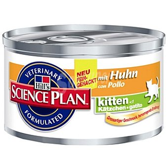 HILL'S SCIENCE PLAN KITTEN Alimento para gatitos con pollo Lata 85 g