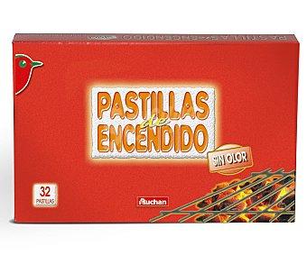 Auchan Pastillas de Encendedido sin Olor 32 Unidades (300 Gramos)