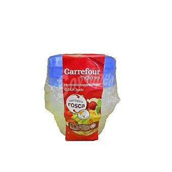 Carrefour Home Bote Redondo de Plástico Carrefour - Bicolor 0,5 l 3 ud
