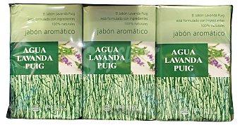 Puig Jabón manos pastilla lavanda 3 unidades de 375 g