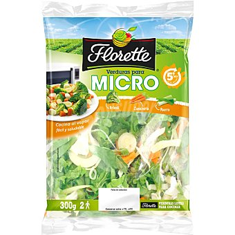 Florette Brócoli, Zanahoria y Puerro Listos para Microondas Bolsa 300 g