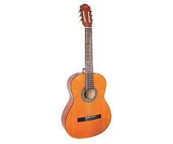 ROCHESTER Guitarra clásica RC-100, tapa de tilo contrachapado, funda incluida tapa de tilo contrachapado, funda incluida