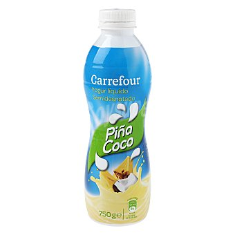 Carrefour Yogur líquido LV piña y coco 750 g