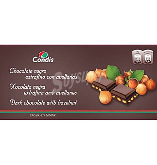 Condis Chocolate extrafino avellanas 150 G