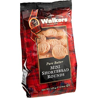 Walkers Mini Rounds de galleta de mantequilla Bolsa 125 g