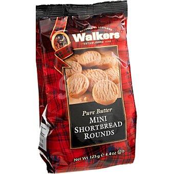 Walkers Mini Rounds de galleta de mantequilla Bolsa 125 g