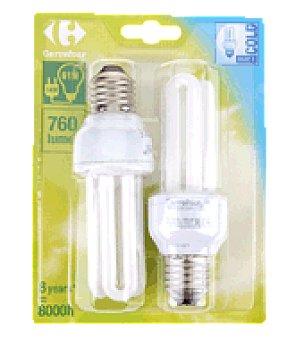 Carrefour 2 bombillas 14W E27 fria