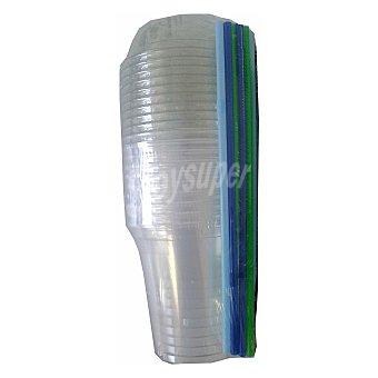 Nupik Pack de Plástico 20,5x1,95cm Transparente