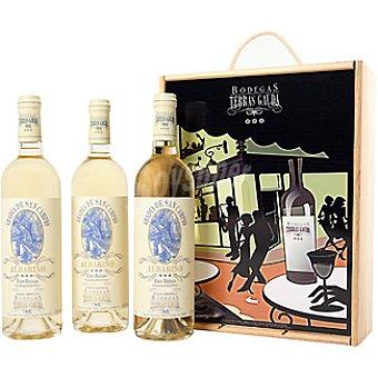 ABADIA DE SAN CAMPIO vino blanco albariño D.O. Rias  estuche 3 botellas 75 cl