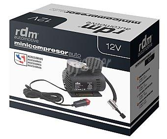 RDM Minicompresor de aire, con conexión a toma de 12V, 250 PSI de presión máxima y 3 accesorios para hinchar balones, colchones, colchonetas.. 1 unidad