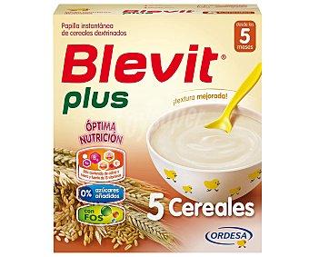 Blevit Plus papilla instantánea de 5 cereales desde los 5 meses Caja 600 g