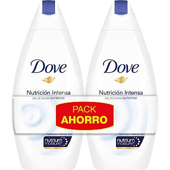 DOVE Nutrición Intensa gel de ducha nutritivo Pack 2 frasco 400 ml