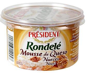 President Rondelé. Crema de queso para untar con nueces de Dordogne Envase 100 g