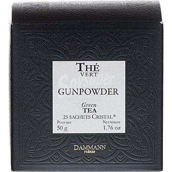 Dammann Té verde Gunpowde refrescante 25 sobres Envase 50 g