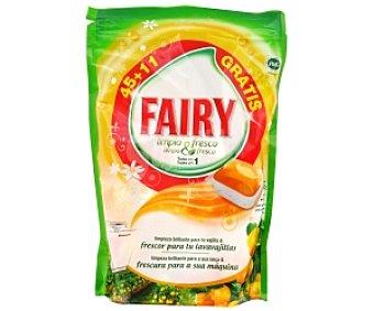 FAYRY Limpio y Fresco Lavavajillas concentrado naranja 45+11 Dosis