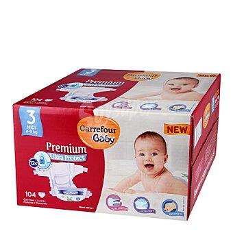 Carrefour Baby Pañal Premium T3 4-9 kg. 104 ud