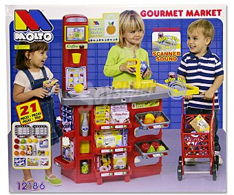 MOLTO Supermercado con Carrito de la Compra 1u