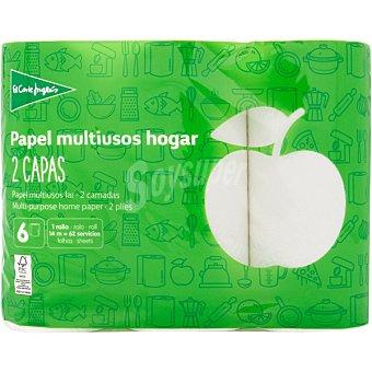 El Corte Inglés Papel de cocina blanco 2 capas paquete 6 rollos
