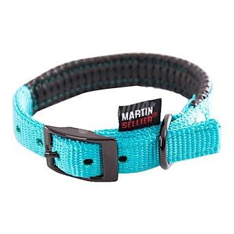 Martin Sellier Collar para perro modelo Confort color turquesa medida 20mm-45cm 1 unidad