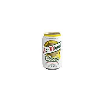 SAN MIGUEL Cerveza rubia clara con zumo de limón lata 33 cl