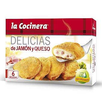 La Cocinera Delicias de jamón-queso Caja 300 g