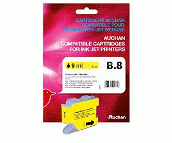 Auchan Cartucho B8 Amarillo 1 Unidad - Compatible con Impresoras: Brother DCP-130C / 135C / 150C / 153C / 155C / 157C / 330C / 350C / 353C / 357C / 540CN / 560CN / 750CW / 770CW、MFC- / 235C / 240C / 260C / 440CN / 465CN / 660CN / 665CW / 680CN / 845CW / 3360C / 5460CN / 5860CN、 1u