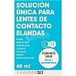 Solución única para lentes de contacto blandas frasco 60 ml formato viaje + portalentillas frasco 60 ml Pharmaset