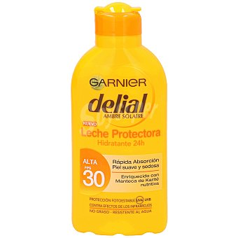 Delial Garnier Leche solar hidratante fp 30 bote 200 ml