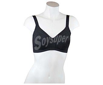SELENE Blanca Sujetador sin aros de doble capa preformada sin costuras, color negro, talla 95C 95C