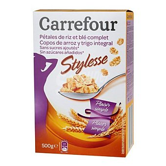 Carrefour Copos de arroz y trigo integral 500 g