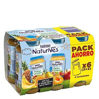 Nestlé Tarrito de frutas variadas y Postre 6 frutas Pack 6x250 g