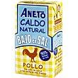 Caldo natural de pollo bajo en sal Brik 1 litro Aneto