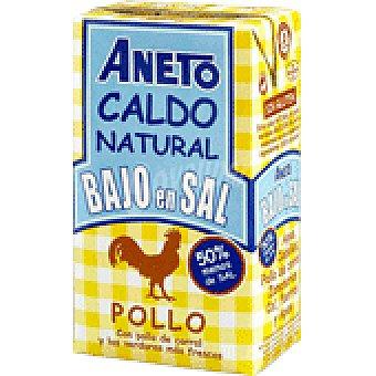 Aneto Caldo natural de pollo bajo en sal Brik 1 litro